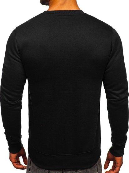 Bolf Herren Sweatshirt ohne Kapuze Schwarz  BO-01