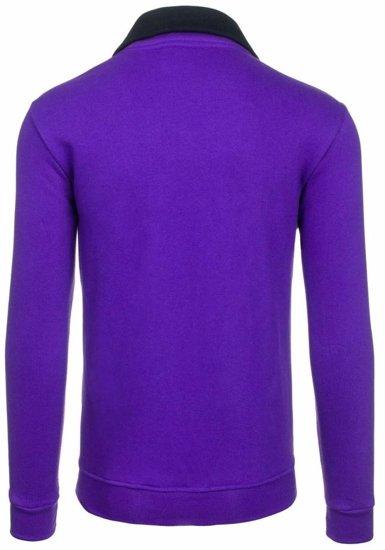Bolf Herren Sweatshirt ohne Kapuze Violett 30S