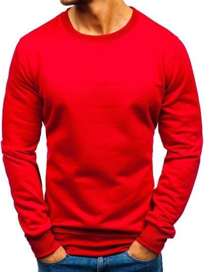 Bolf Herren Sweatshirt ohne Kapuze Weinrot  BO-01