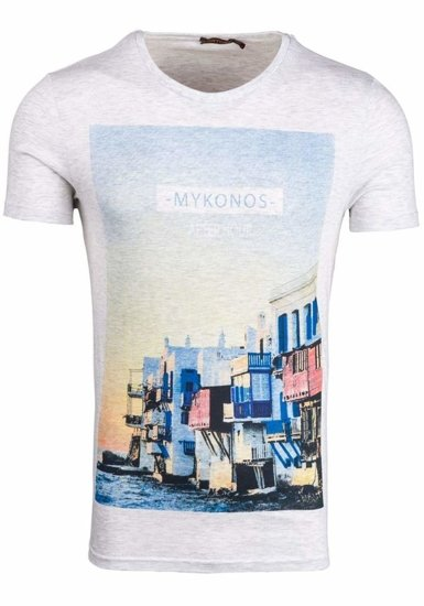 Bolf Herren T-Shirt Grau 7483