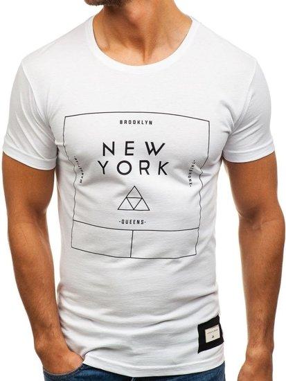 Bolf Herren T-Shirt Weiß 1119