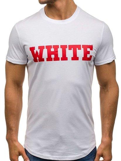 Bolf Herren T-Shirt Weiß S079