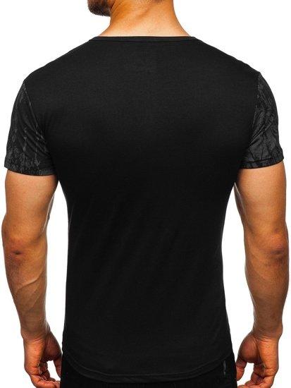 Bolf Herren T-Shirt mit Motiv Schwarz  SS671