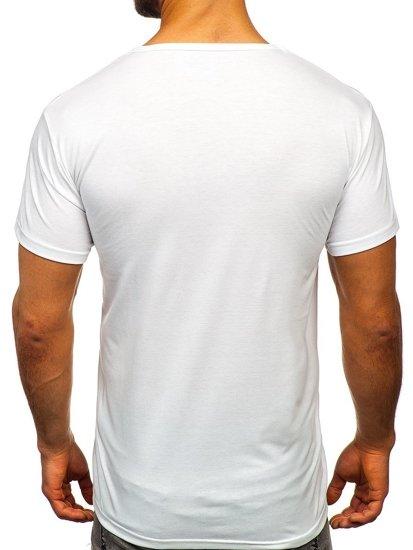 Bolf Herren T-Shirt mit Motiv Weiß  KS1958