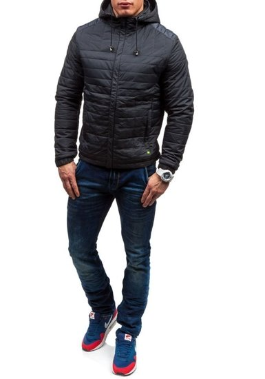 Bolf Herren Übergangsjacke Sport Jacke Schwarz  m503