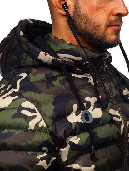Bolf Herren Winterjacke Sport Jacke mit Steppmuster Grün  50A469