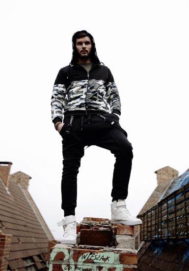 Styling Nr.186-Sweatshirt mit Kapuze,Baggyhose