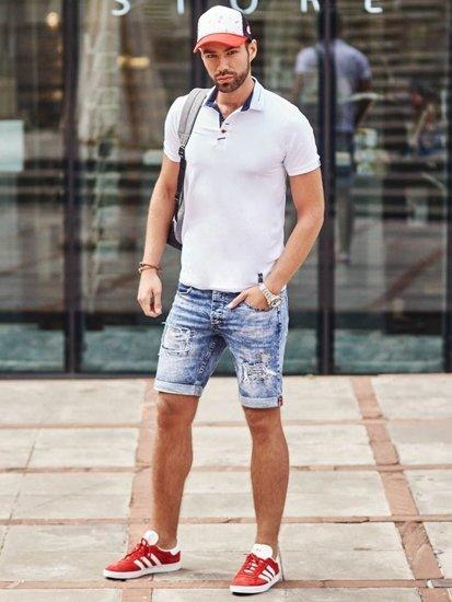 Styling Nr. 286 Cap, Uhr, Lederarmband, Polo-Shirt, kurze Hose