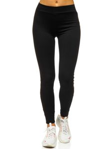 Bolf Damen Leggings mit Motiv Schwarz-Orange  82339