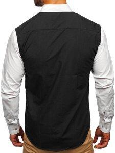 Bolf Herren Hemd  Elegant Langarm Schwarz Bolf 6919