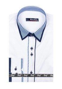 Bolf Herren Hemd  Elegant Langarm Weiß Bolf 6935