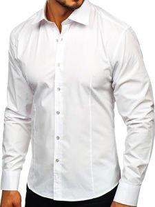 Bolf Herren Hemd Weiß 1703
