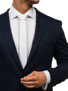 Bolf Herren Krawatte Weiß K001
