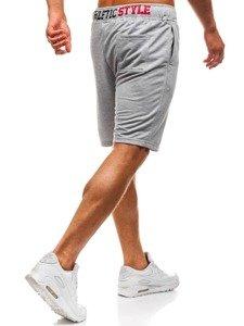 Bolf Herren Kurze Sporthose Grau  EX05-1