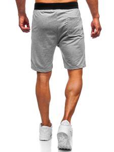 Bolf Herren Kurze Sporthose Grau  EX07-1