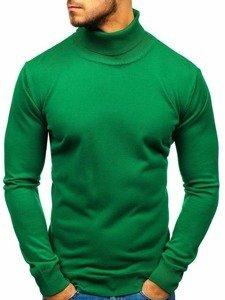 Bolf Herren Pullover Rollkragen Grün  2400