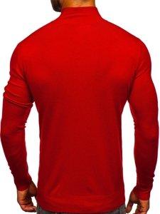 Bolf Herren Pullover mit Stehkragen Rot  YY08