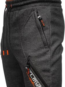 Bolf Herren Sporthose Schwarz-Orange  Q1041