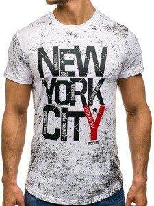 Bolf Herren T-Shirt Weiß S109