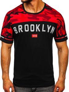 Bolf Herren T-Shirt mit Motiv Schwarz  SS10977