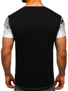 Bolf Herren T-Shirt mit Motiv Weiß  SS11111