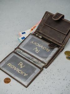 Herren Leder Geldbörse Braun 3175
